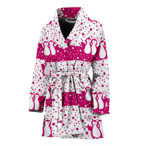 Penguin Bird Print Women's Bath Robe