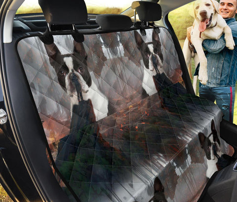 Amazing Boston Terrier Print Pet Seat Covers