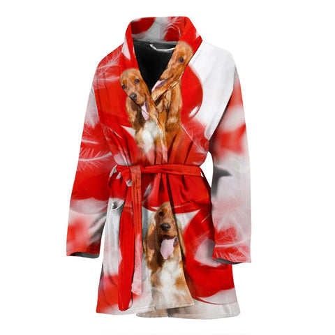 Cocker Spaniel Print Women's Bath Robe