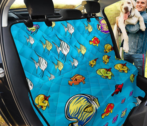 Cute Fish Patterns Print Pet Seat Covers