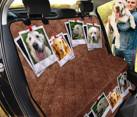 Lovely Golden Retriever Dog Print Pet Seat Covers