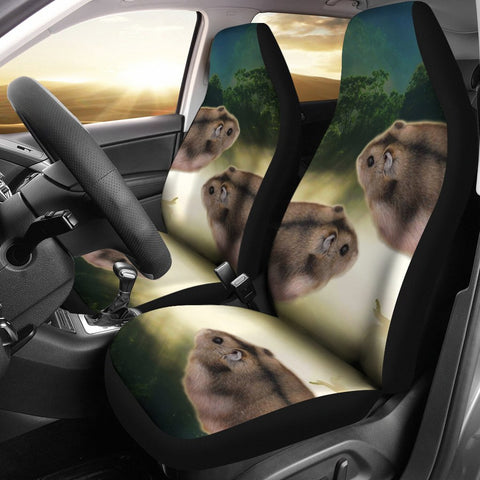 Lovely Campbell's Dwarf Hamster Print Car Seat Covers