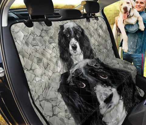 English Springer Spaniel B&W Print Pet Seat Covers