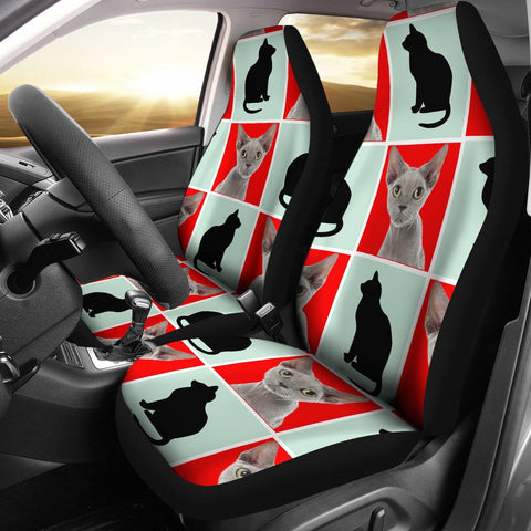 Devon Rex Cat Patterns Print Car Seat Covers