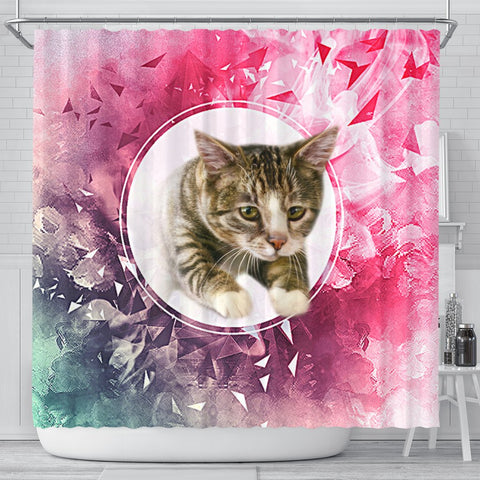 American Shorthair Cat Print Shower Curtain