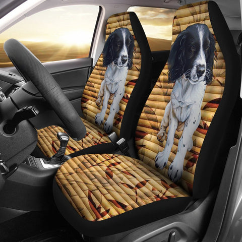 Cute English Springer Spaniel Print Car Seat Covers