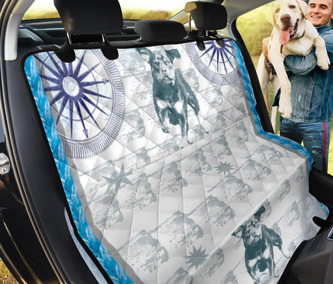 Black&White Rottweiler Print Pet Seat Covers