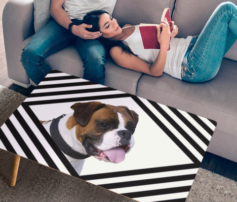 Cute Boxer Dog Print Rectangular Coffee Table