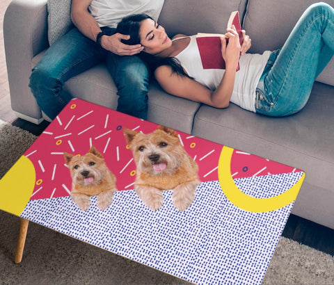Cute Norwich Terrier Print Rectangular Coffee Table