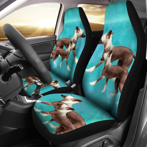 Chinese Creasted Dog Print Car Seat Covers