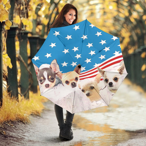 Cute Chihuahua Dog Print Umbrellas