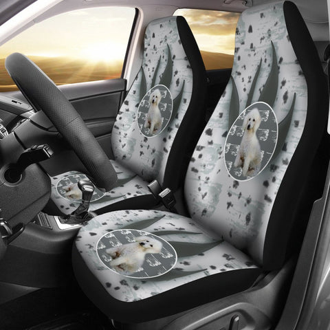 Poodle Dog Print Car Seat Covers