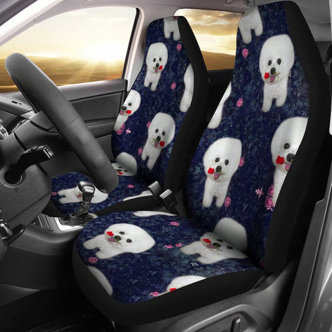 Bichon Frise Patterns Print Car Seat Covers