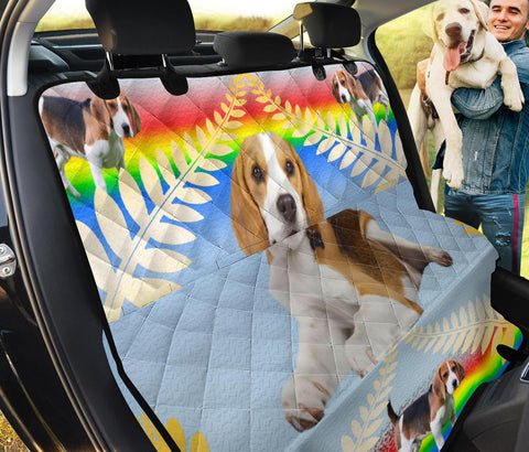 Beagle Dog Print Pet Seat Covers