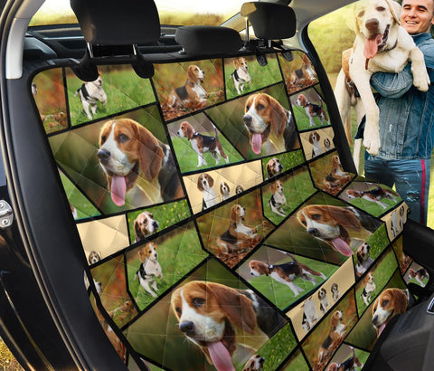 Beagle Collage Print Pet Seat Covers