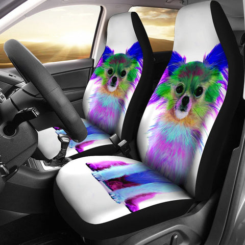 Colorful Chihuahua Dog Print Car Seat Covers