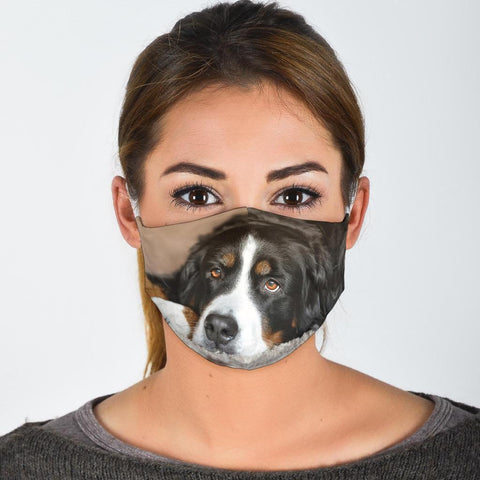 Bernese Mountain Dog Print Face Mask