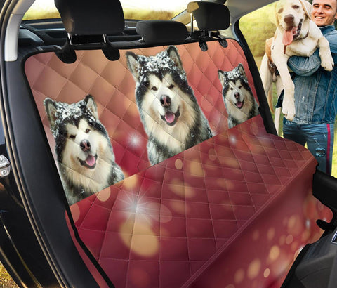 Cute Alaskan Malamute Print Pet Seat Covers