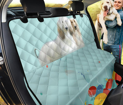 Afghan Hound Print Pet Seat Covers