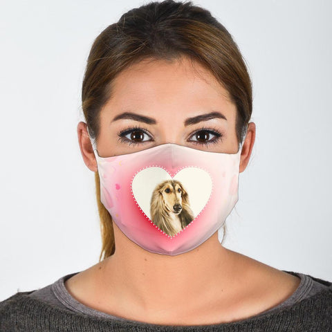 Cute Afghan Hound Print Face Mask