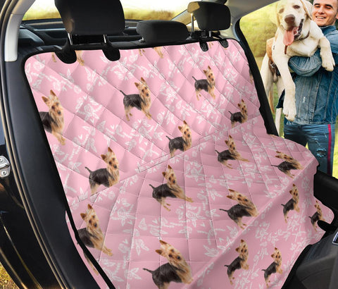 Australian Terrier Floral Print Pet Seat Covers