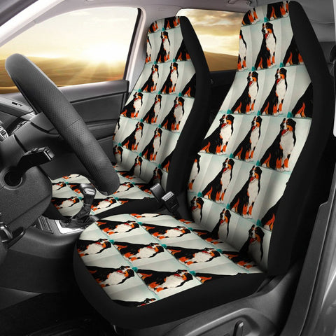 Bernese Mountain Dog Patterns Print Car Seat Covers
