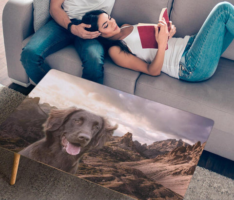 Flat Coated Retriever Print Rectangular Coffee Table