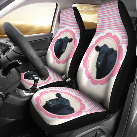 Belted Galloway Cattle (Cow) Print Car Seat Covers