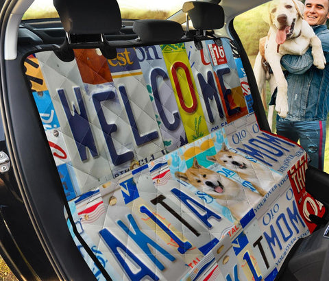 Akita Welcome Print Pet Seat Covers