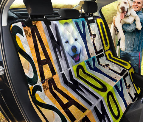 Samoyed Dog Print Pet Seat Covers