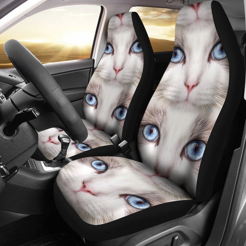 Amazing Ragdoll Cat Face Print Car Seat Covers