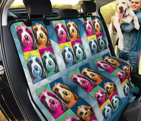 Bearded Collie Pattern Print Pet Seat Covers