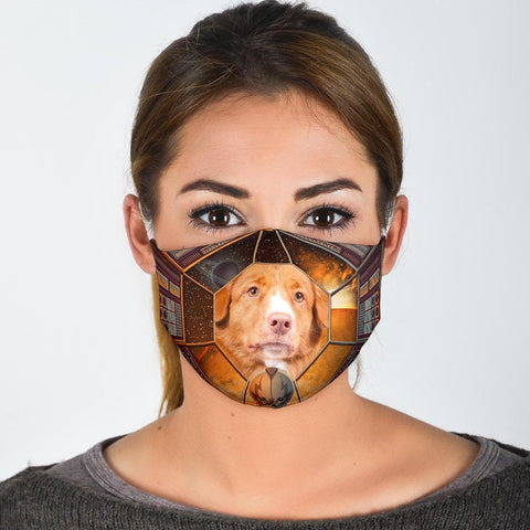 Cute Nova Scotia Duck Tolling Retriever Print Face Mask