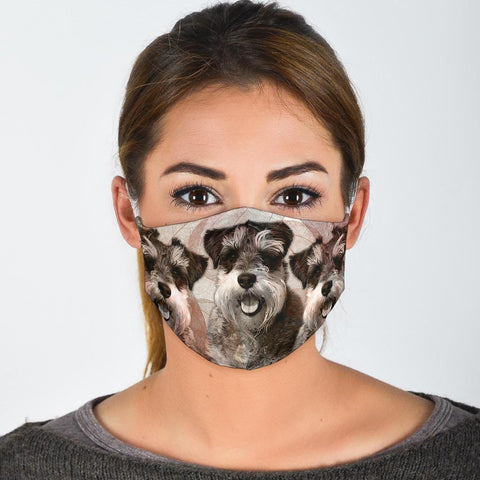 Cute Schnauzer Print Face Mask