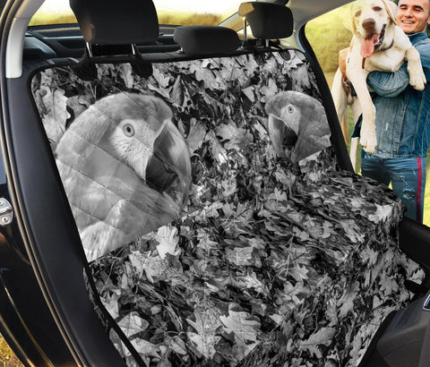 Lovely Red And Green Macaw Print Pet Seat Covers