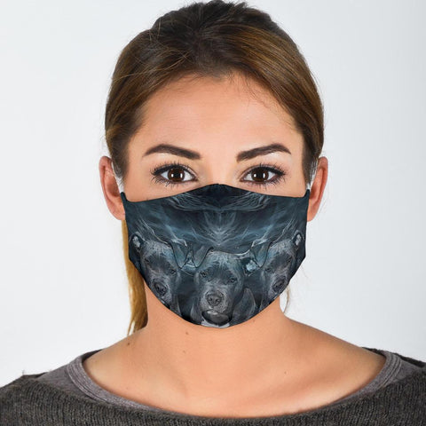 Amazing Pit Bull Print Face Mask