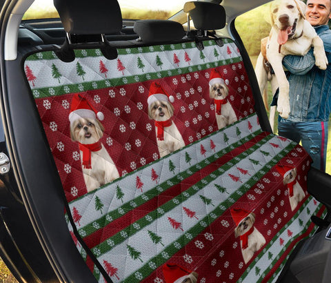 Shih Tzu Christmas Print Pet Seat Covers