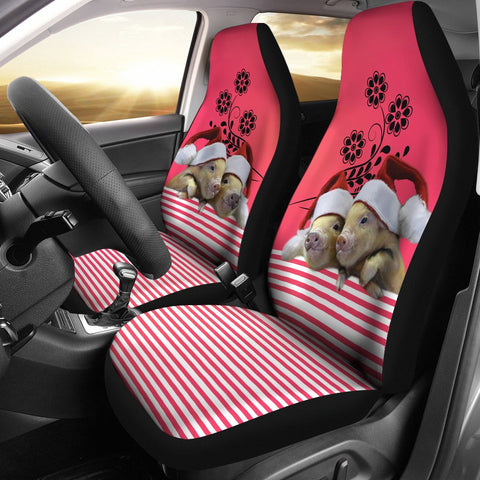 Miniature Pig Print Car Seat Covers