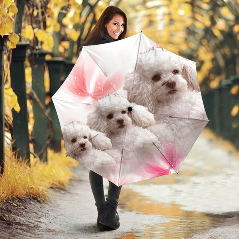 Cute Poodle Print Umbrellas