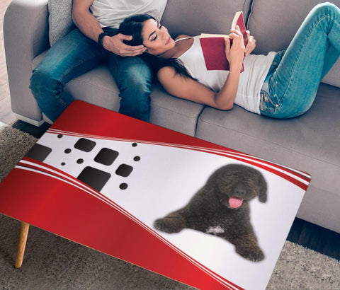 Cute Spanish Water Dog Print Rectangular Coffee Table