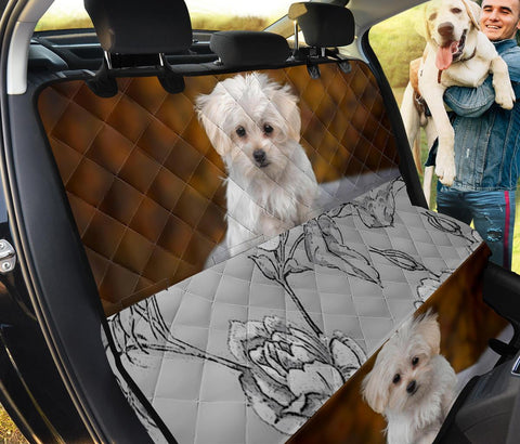 Lovely Maltese Print Pet Seat Covers