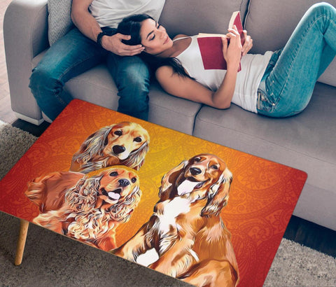 Cocker Spaniel Print Rectangular Coffee Table