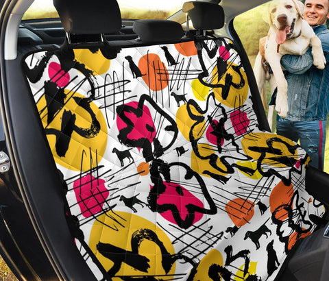Dog Art Print Pet Seat covers