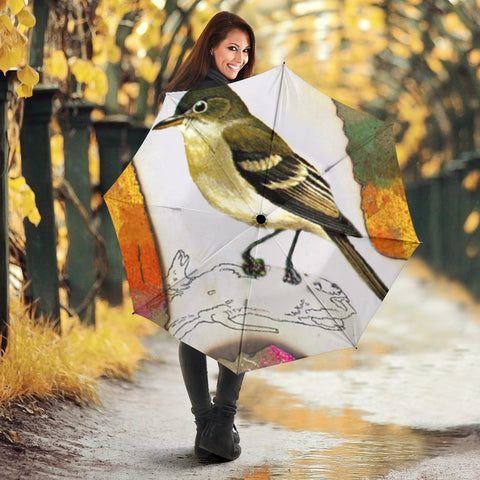 Acadian flycatcher Bird Print Umbrellas