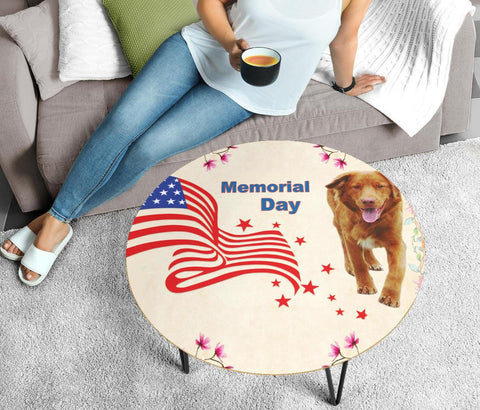 Nova Scotia Duck Tolling Retriever Print Circular Coffee Table