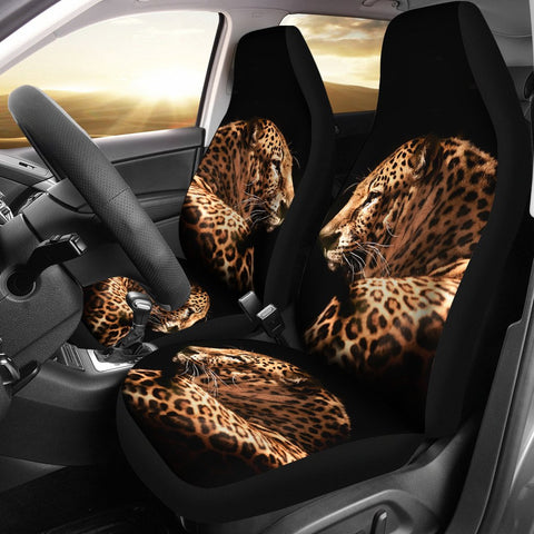 Amazing Leopard Print Car Seat Covers