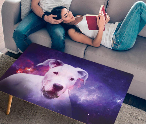 Dogo Argentino Print Rectangular Coffee Table