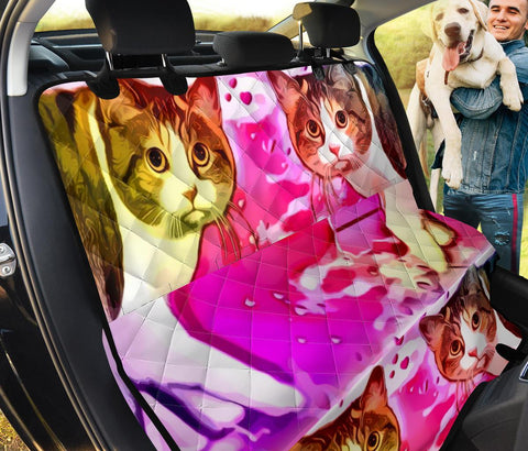 Manx Cat Print Pet Seat covers