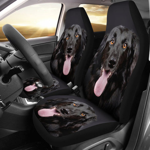 Black Hovawart Dog Print Car Seat Covers