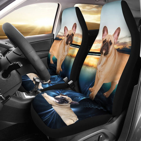 French Bulldog Print Car Seat Covers